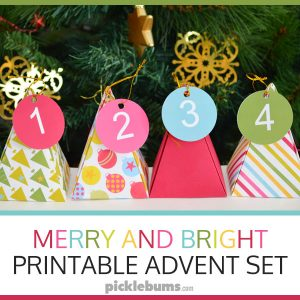Merry and Bright Printable Advent Set