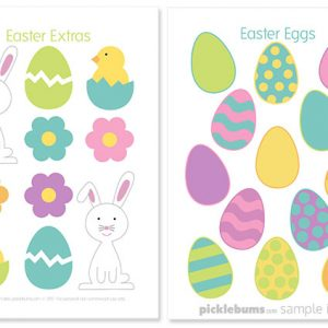 Easter play dough accesspories