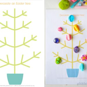 Easter play dough mats – set of 6 fun designs