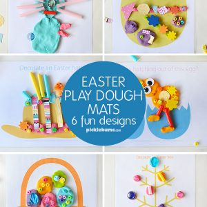 Easter play dough mats - set of 6 fun designs