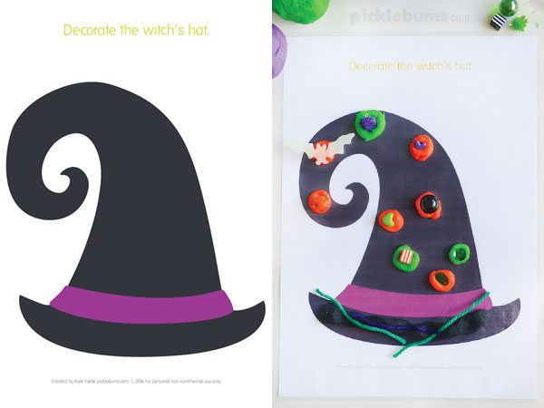 Halloween play dough mats - 6 spooky designs