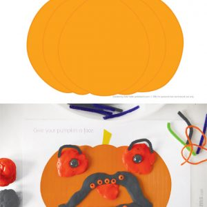 Halloween play dough mats – 6 spooky designs