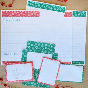 Write a Letter to Santa with this printable letter writing set