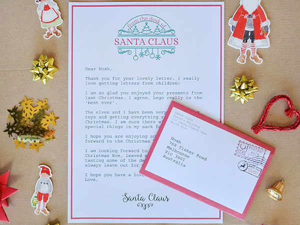 20 beautiful letter from santa australia free pictures complete letter to santa set picklebums shop spiritdancerdesigns Choice Image