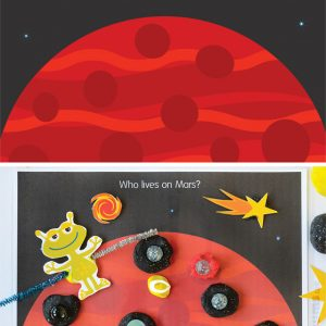 Space Play Dough Set – 6 play dough mats and 2 pages of printable accessories