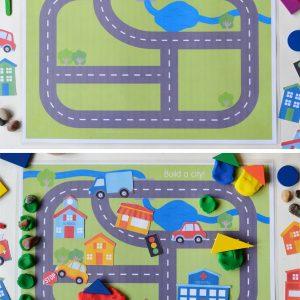 city-play-dough-mats-map