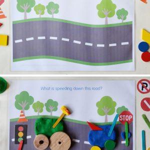 city-play-dough-mats-road