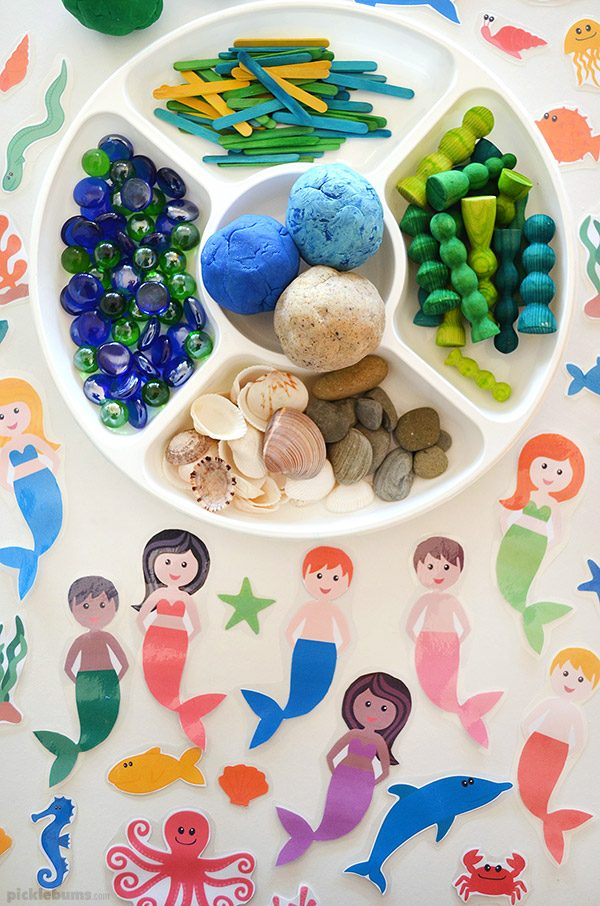 Ocean Playdough accessories