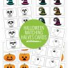 Halloween matching halves cards printables