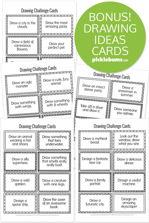 drawing ideas cards