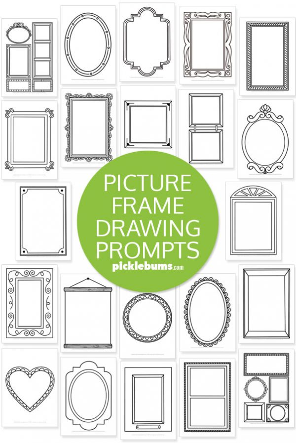 picture frame drawing prompt printables